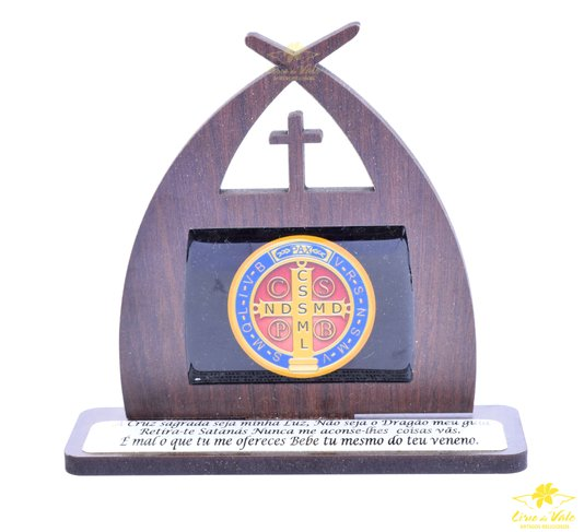Capela com oração São Bento