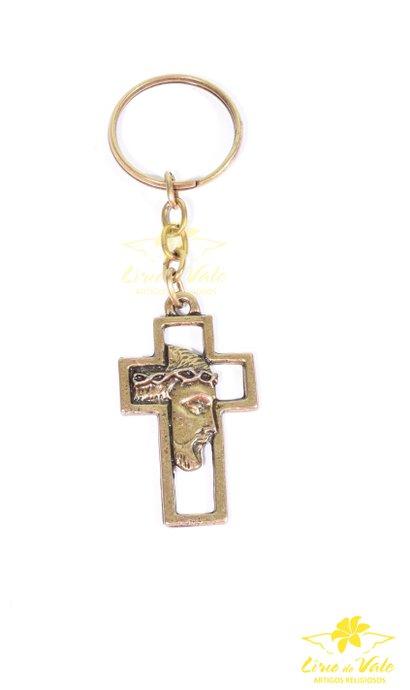Chaveiro crucifixo Face de Cristo - Oruro velho 12 UN