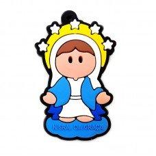 Chaveiro emborrachado Nossa Senhora das Graças - 06 UN