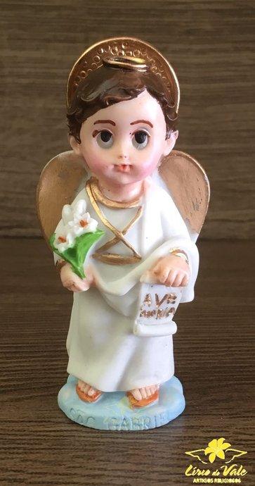 Imagem de São Gabriel infantil em resina - 8cm