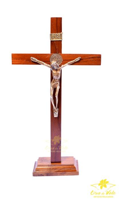 Crucifixo de mesa ou parede São Bento - 29cm