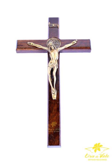 Crucifixo de parede São Bento - 23cm