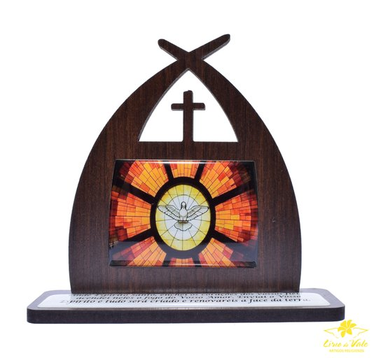 Capela com oração Divino Espírito Santo