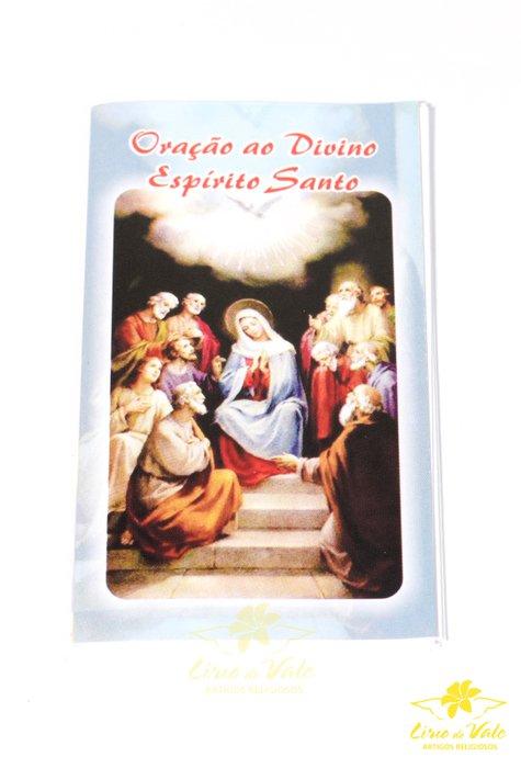 Folheto de oração sanfonado Espírito Santo - 10un