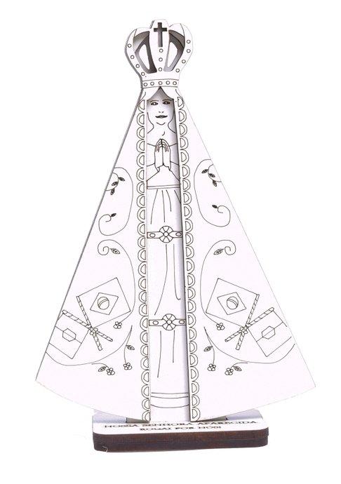 Imagem Nossa Senhora Aparecida 3D em MDF