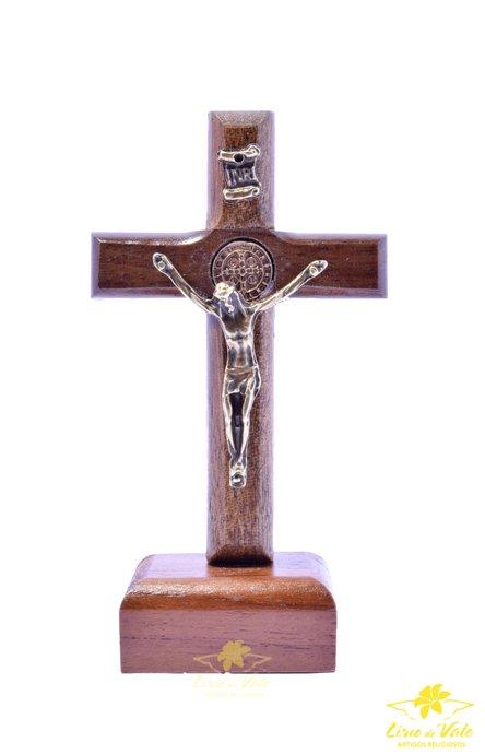 Crucifixo de mesa São Bento - 8cm