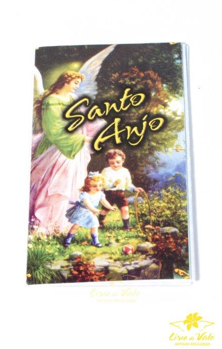 Folheto de oração sanfonado Santo Anjo - 10 UN