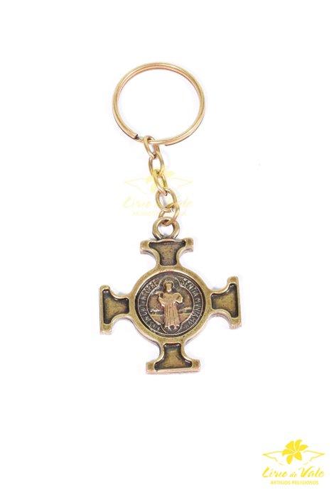 Chaveiro Cruz de São Bento - Ouro velho 12 UN