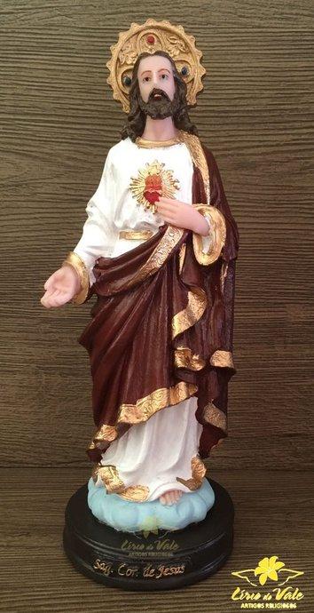 Imagem Sagrado Coração de Jesus em resina - 20cm