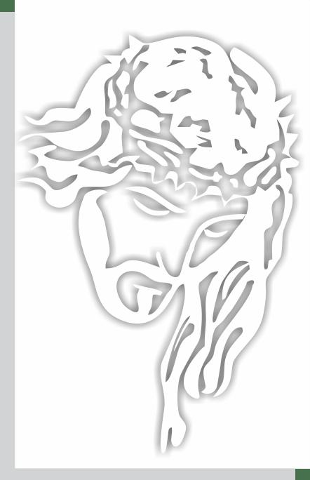 Adesivo face de Cristo M - branco 3un