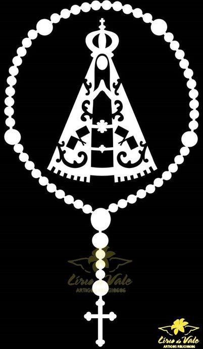 Adesivo Nossa Senhora Aparecida na cor Branca