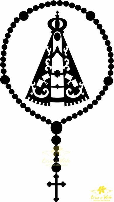 Adesivo Nossa Senhora Aparecida na cor Preta