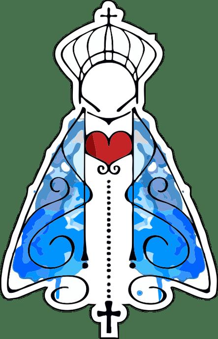 Adesivo Nossa Senhora Aparecida manto M - 3un