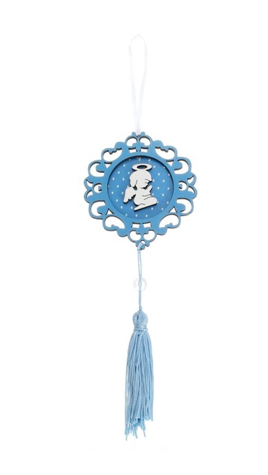 Adorno de berço Anjo da Guarda - Azul