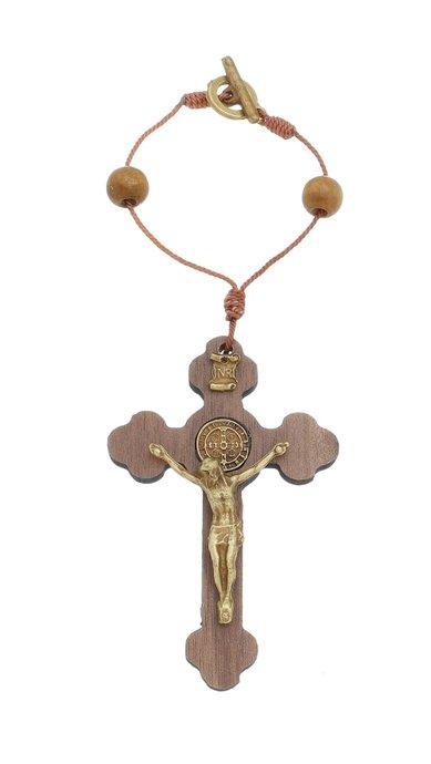 Adorno para carro Crucifixo - Marrom