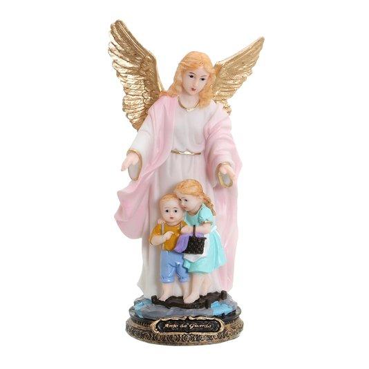 Imagem Anjo da Guarda em resina - Rosa 21cm