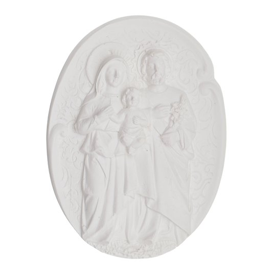Aplique Sagrada Familia em Resina 11x8 cm