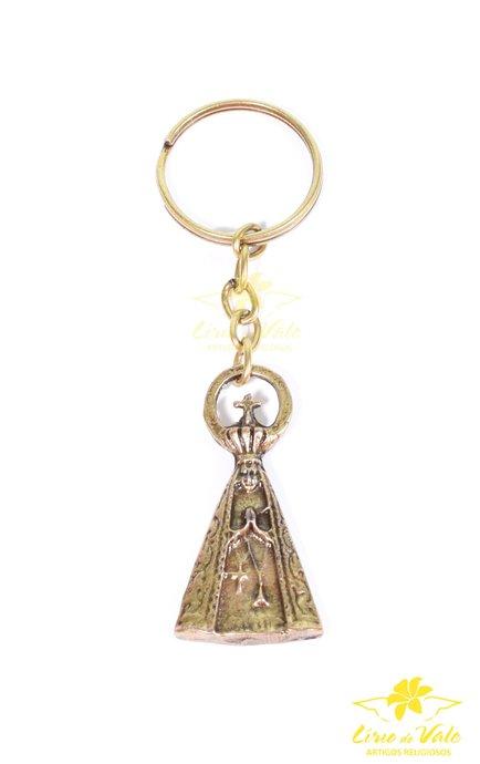 Chaveiro Nossa Senhora Aparecida (P) - Ouro velho 12 UN