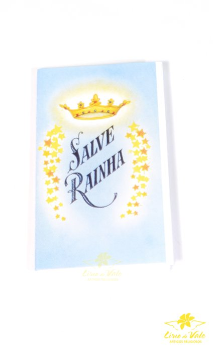 Folheto de oração sanfonado salve rainha - 10un