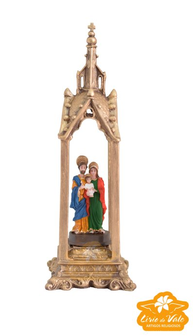 Capela da Sagrada Família em resina - 27cm