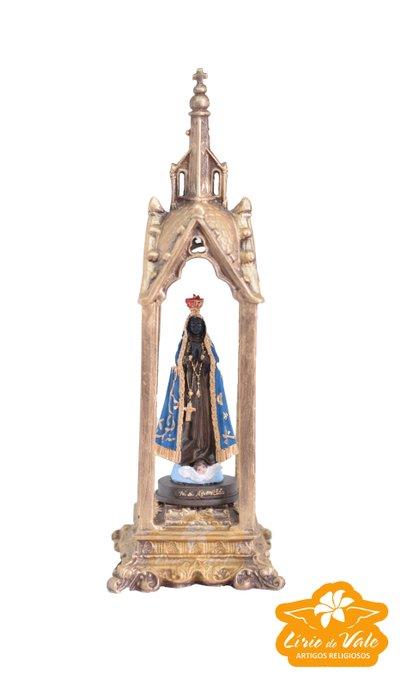 Capela de Nossa Senhora Aparecida em resina - 27cm