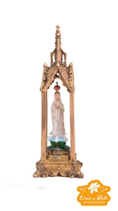 Capela de Nossa Senhora de Fátima em resina - 27cm