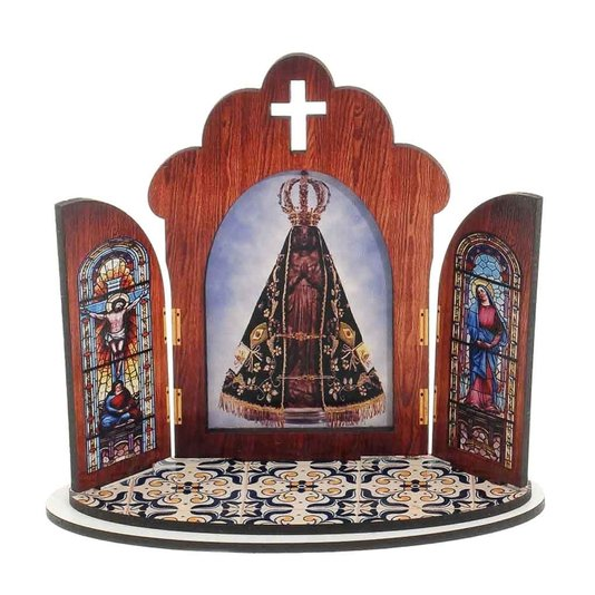 Capela Nossa Senhora Aparecida em MDF - 12cm