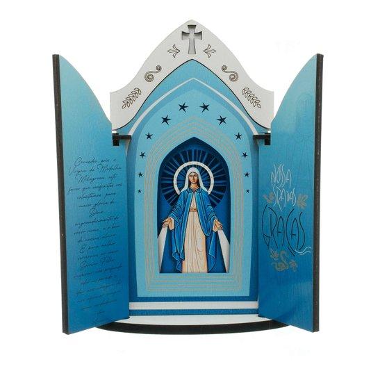 Capela Nossa Senhora das Graças  com porta e oração - M