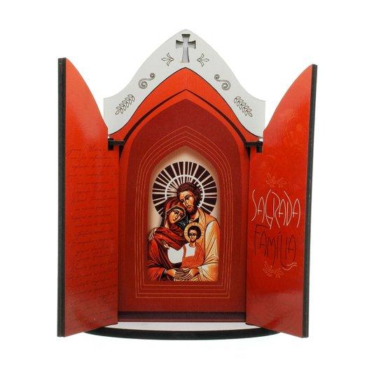Capela Sagrada Família com porta e oração - P