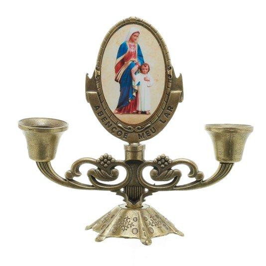 Castiçal Maria passa na Frente - Bronze