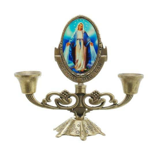 Castiçal Nossa Senhora das Graças - Bronze
