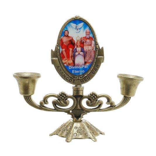 Castiçal Divino Pai eterno - Bronze