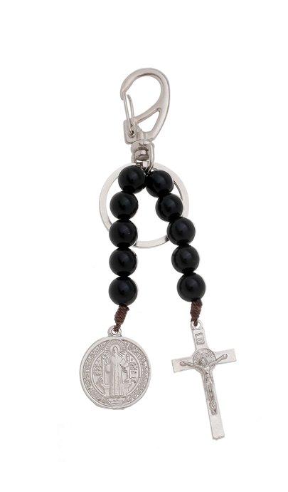 Chaveiro dezena de São Bento com crucifixo