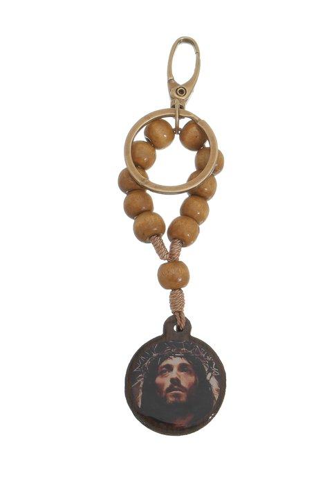 Chaveiro Dezena com Cristo e Oração