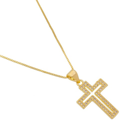 Colar Crucifixo vazado