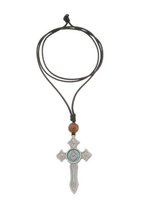 Cordão crucifixo Espada de São Miguel