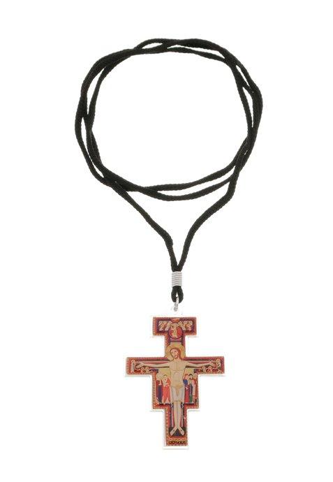 Cordão crucifixo São Damião - 5cm