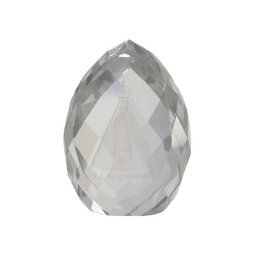 Cristal de Nossa Senhora Aparecida trabalhado