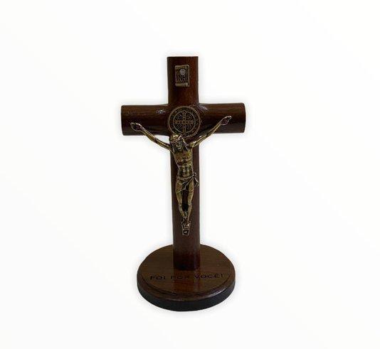 Crucifixo de mesa de São Bento - 18cm