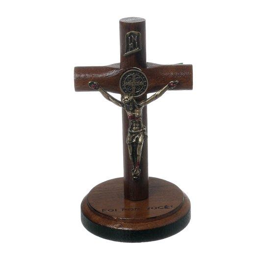 Crucifixo de mesa de São Bento - 8cm