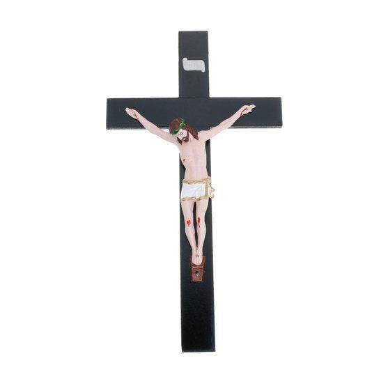 Crucifixo de parede com Cristo em plástico ABS - 40cm