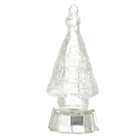 Cristal de Nossa Senhora Aparecida com base e luz