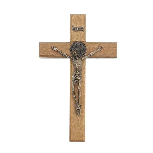 Cruz de parede com São Bento 20cm