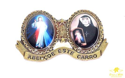 BENÇÃO DO CARRO JESUS MISERICORDIOSO - OURO VELHO