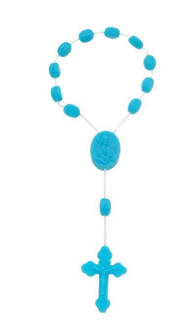 Dezena de  plástico - Azul claro 12un