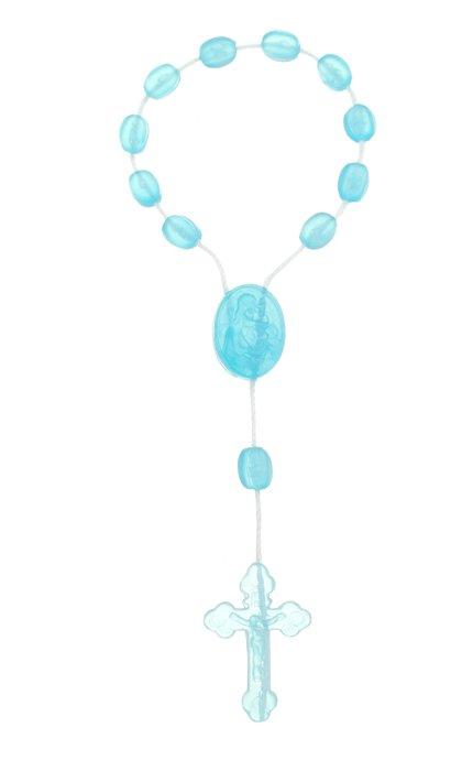 Dezena de nylon plástica azul claro cristal - 12un