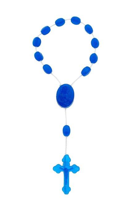 Dezena de plástico azul escuro cristal - 12un