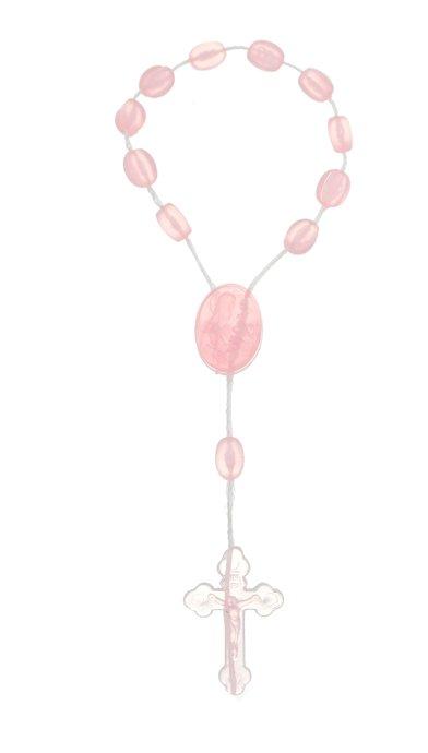 Dezena de plástico rosa claro cristal - 12un