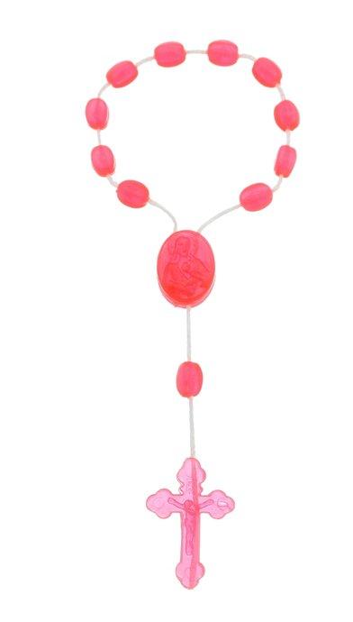 Dezena de plástico rosa pink cristal - 12un