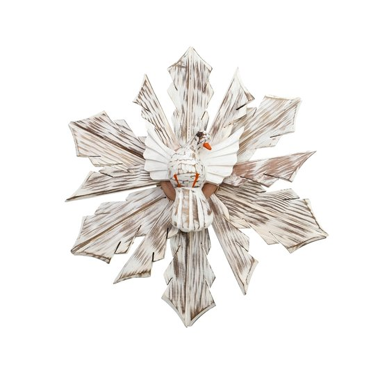Divino Espírito Santo Branco de Madeira Cedro 31cm
